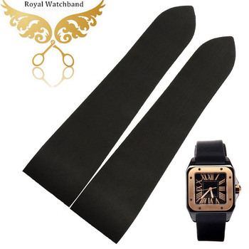 25mm New Men's Black Curved end Diver Silicone Rubber Watch band strap Watch with tool accessories