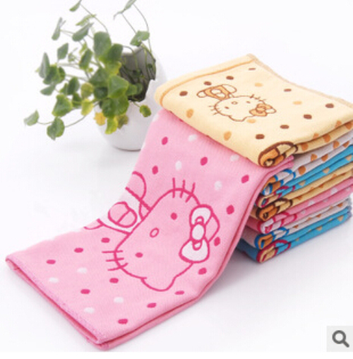 Kawaii Hello Kitty Doraemon Cotton Face Towel Quick-Dry Face Towel Woven Hand Лица Пляж Ванна Корпусных Shower Towel K7551
