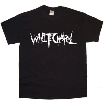 WHITECHAPEL Группа логотип Рок Thrash Black HEAVY METAL ПАНК ПОП майка tee
